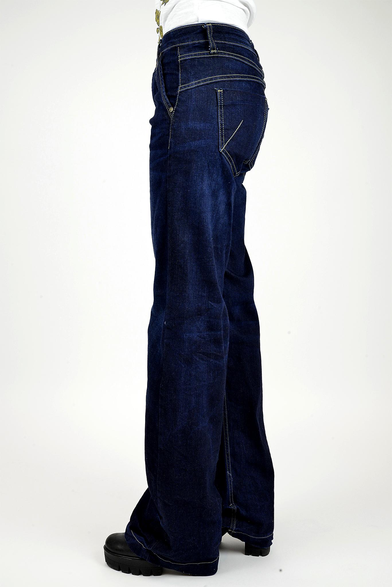 Jeans Please Palazzo Upl Scuro Di Blu Donna rI0xrAqw