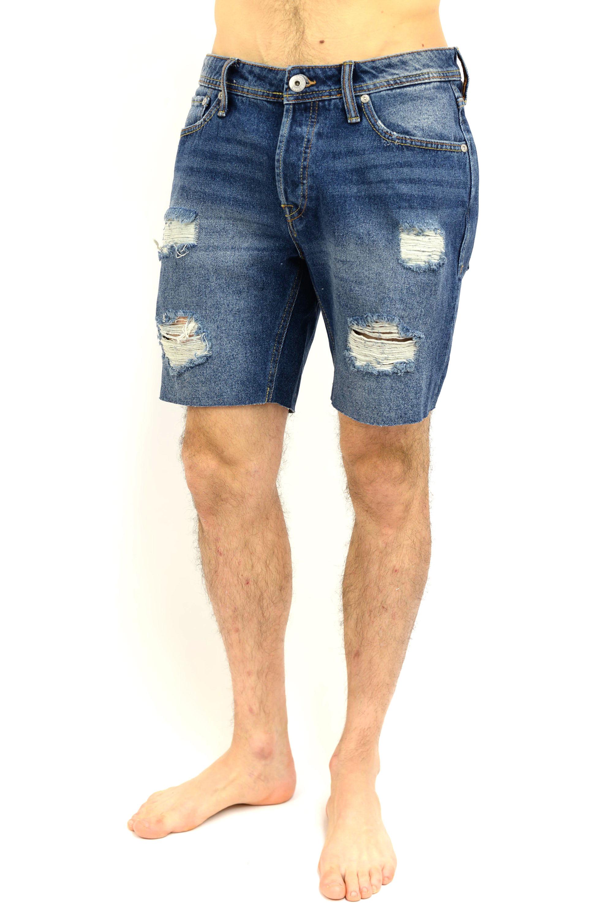 migliore a buon mercato 5ca2d 7f3c8 Bermuda jeans strappato