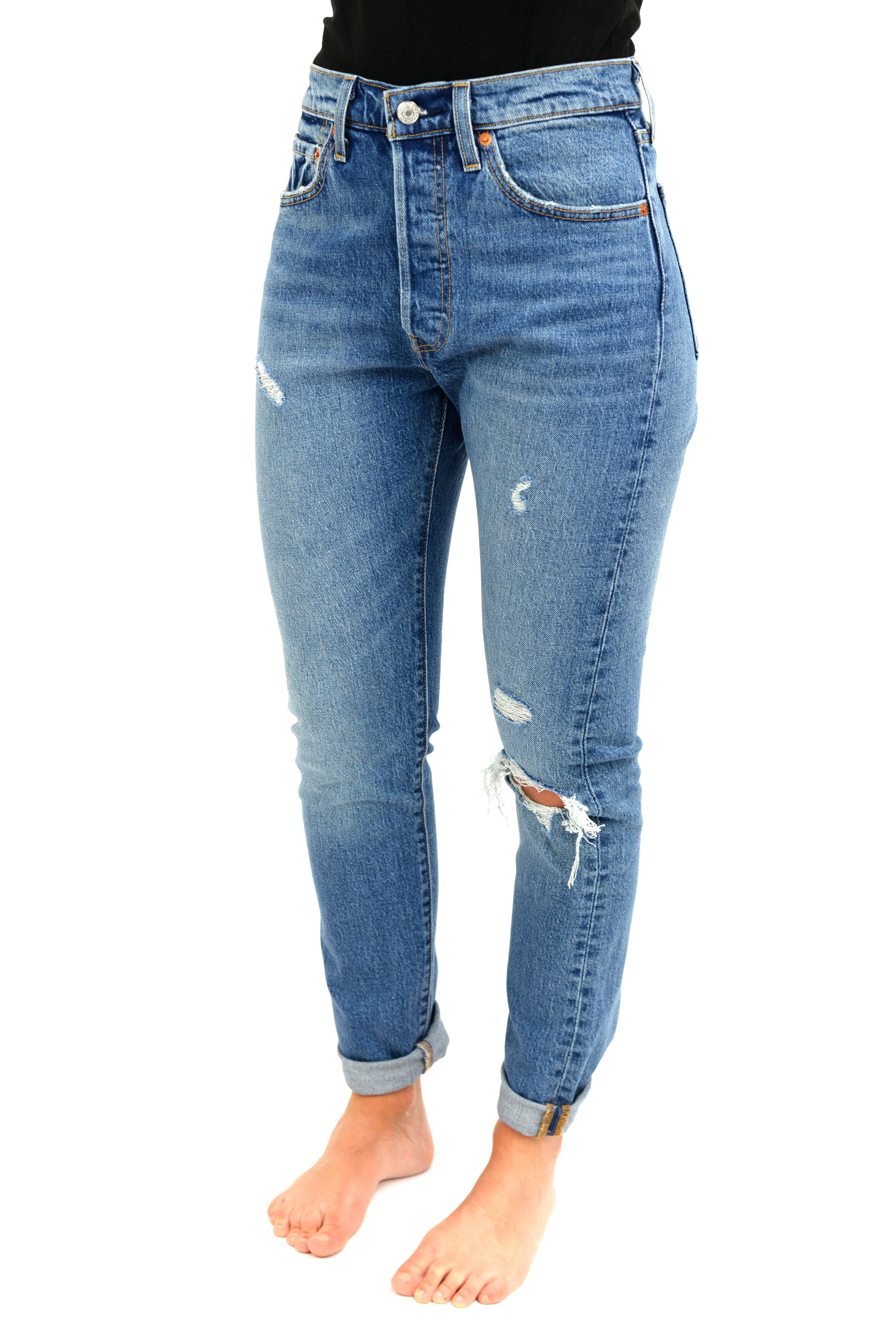 molto carino a4ed3 8a694 Jeans 501 skinny vita alta strappato