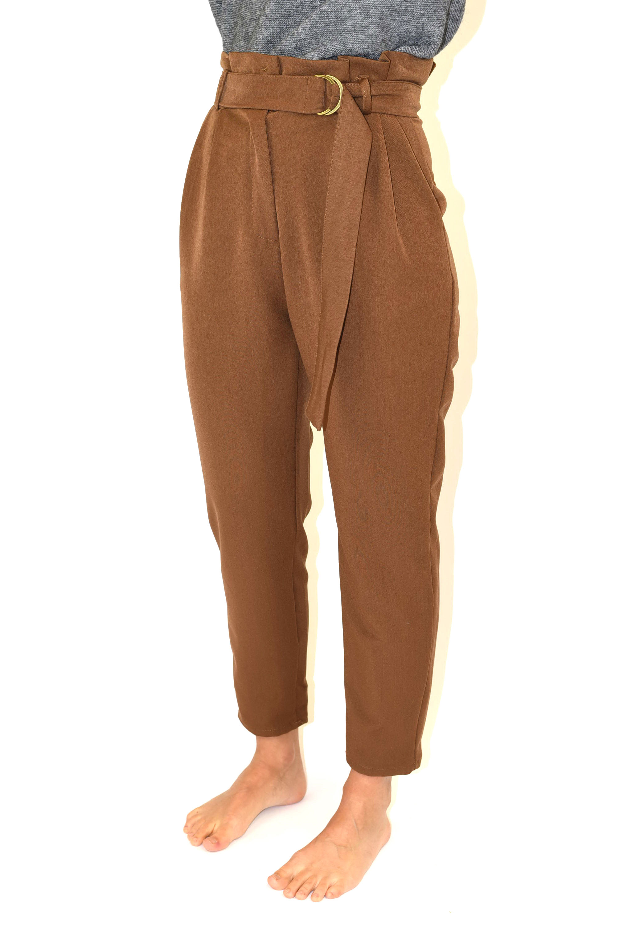 spedizioni mondiali gratuite elegante e grazioso immagini ufficiali Pantalone vita alta con cintura