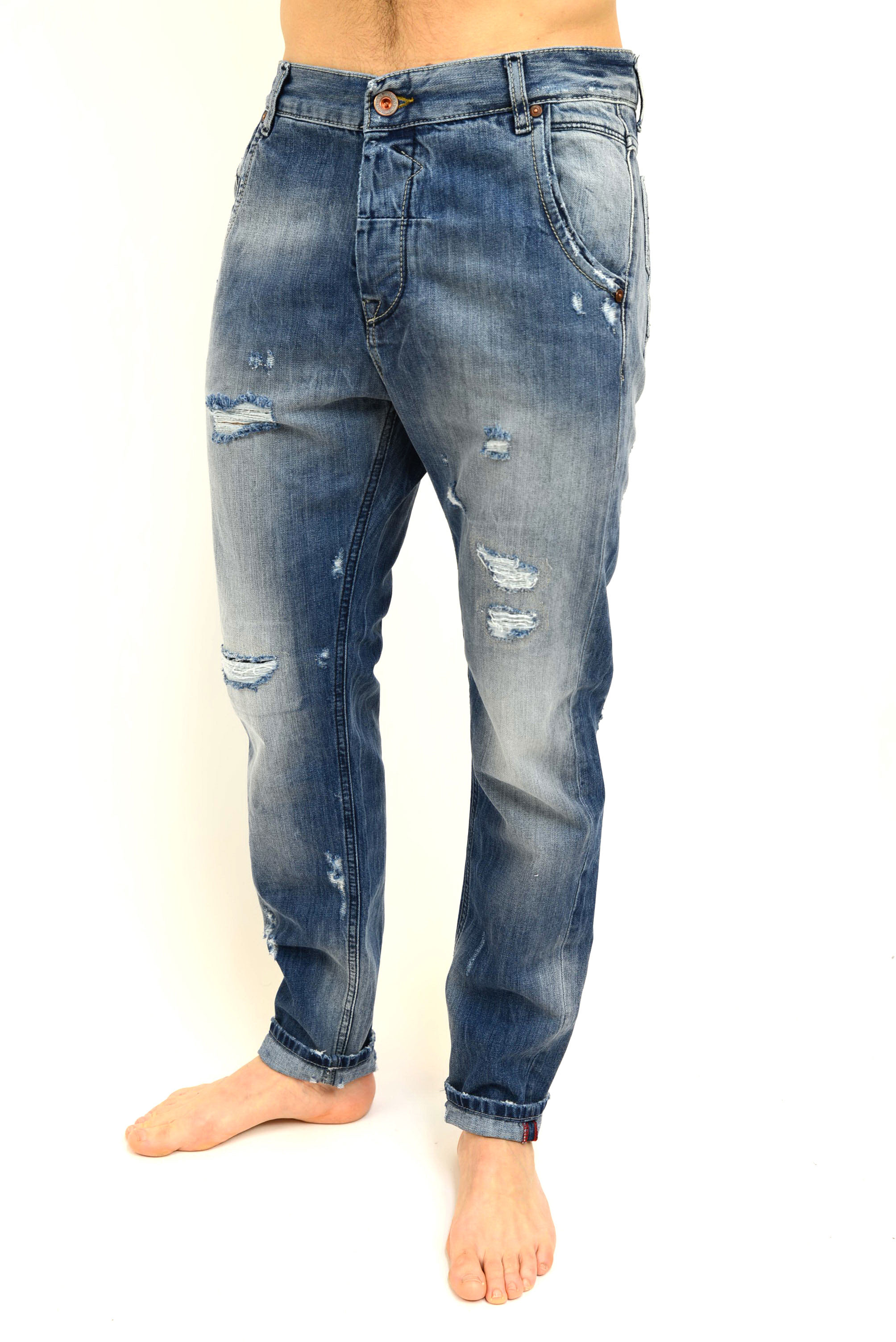 Fit Uomo Carrot Di Jeans Fifty Uplà Four 45vqnwC